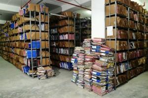 warehouse full of paper