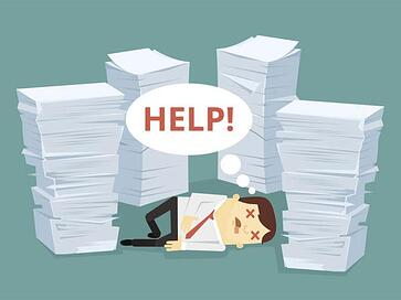paper work and paper waste